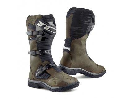 motocyklové boty baja brown wp