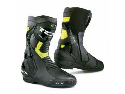 motocyklové boty st fighter black yellow wp