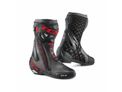 motocyklové boty rt race black red