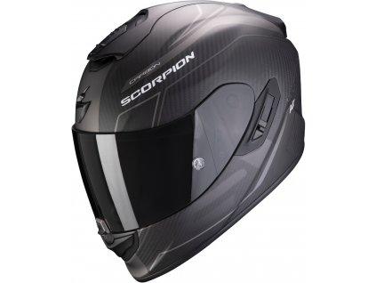 Scorpion EXO 1400 CARBON AIR BEAUX Mat Black Silver