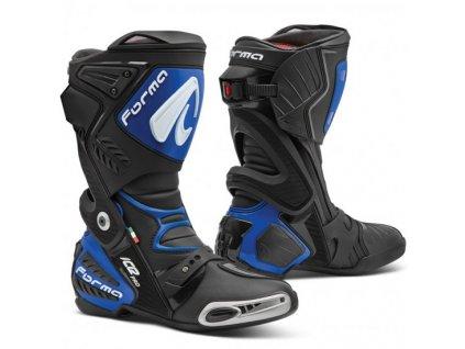 moto boty forma ice pro black blue