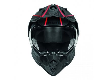 prilba cross n312 nox black red 1