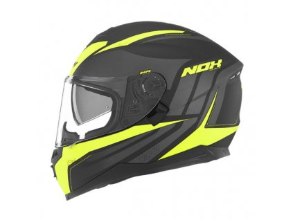 NOX N302 Shape Black Grey Yellow Neon Mat