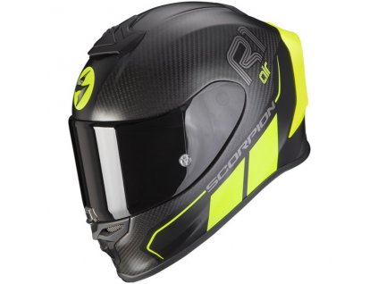 Scorpion EXO R1 CARBON AIR CORPUS II Mat Black Neon Yellow