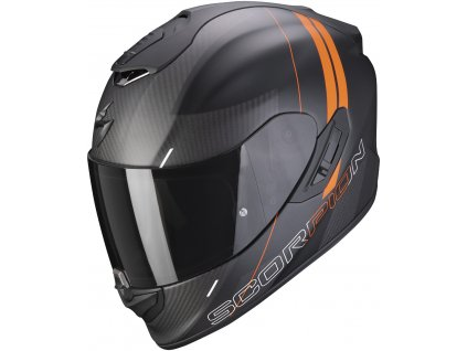 Scorpion EXO 1400 CARBON AIR DRIK Mat Black Orange
