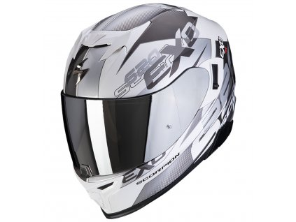 Scorpion EXO 520 AIR COVER White Silver