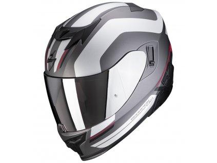Scorpion EXO 520 AIR LEMANS Mat Black Silver White
