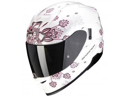 Scorpion EXO 520 AIR TINA Pearl White Silver