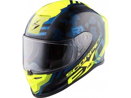 Scorpion EXO R1 AIR OGI Black Yellow Neon 9