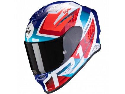 Scorpion EXO R1 AIR INFINI White Red Blue