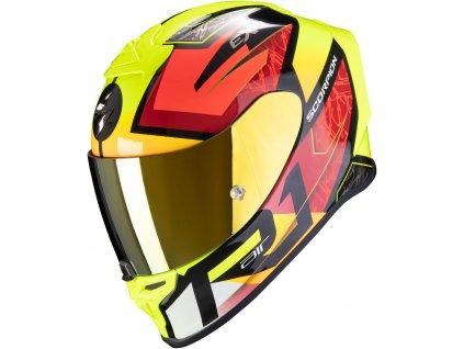 Scorpion EXO R1 AIR INFINI Black Red Neon Yellow 9