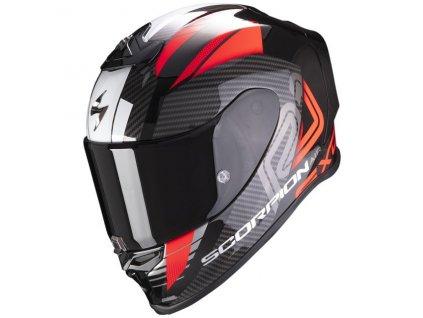 Scorpion EXO R1 AIR HALLEY Metallic Black Red