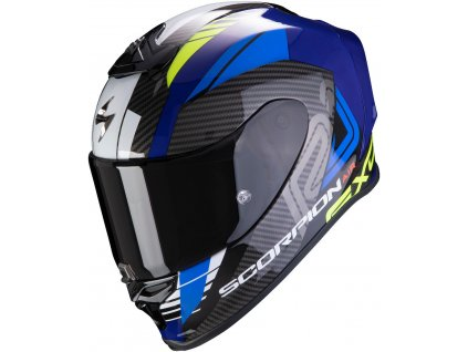 Scorpion EXO R1 AIR HALLEY Blue Neon Yellow