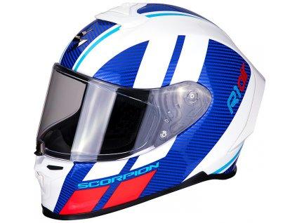 Scorpion EXO R1 AIR CORPUS White Blue Red 5
