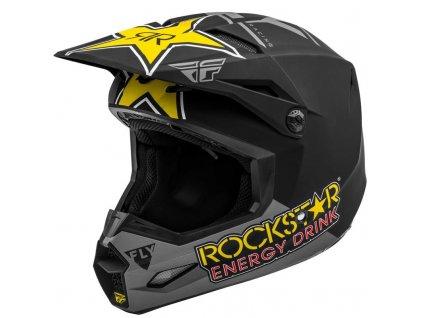 Přilba FLY RACING KINETIC ROCKSTAR Grey Black Yellow