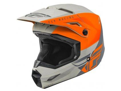 FLY RACING KINETIC STRAIGHT Orange Grey