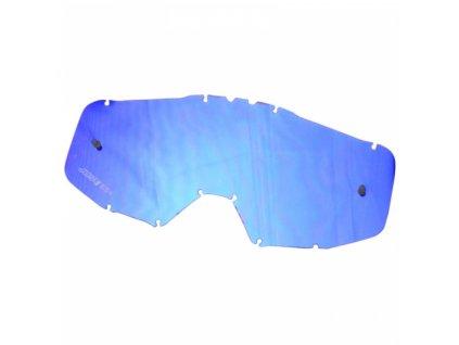 Sklo do brýlí JUST1 zrcadlové modré
