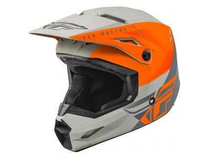 FLY RACING KINETIC STRAIGHT Orange Grey