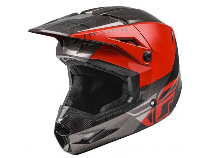 FLY RACING KINETIC STRAIGHT Red Black Grey