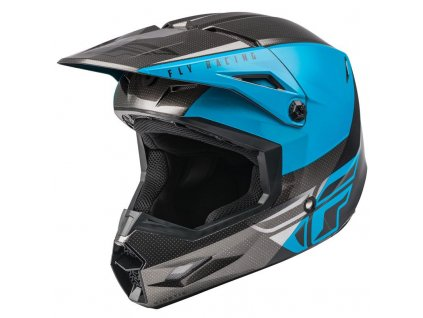 FLY RACING KINETIC STRAIGHT Blue Grey Black