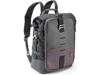 CRM 101 městský batoh GIVI, hnědočerný, retro design, 18 l. (řada CORIUM) 6