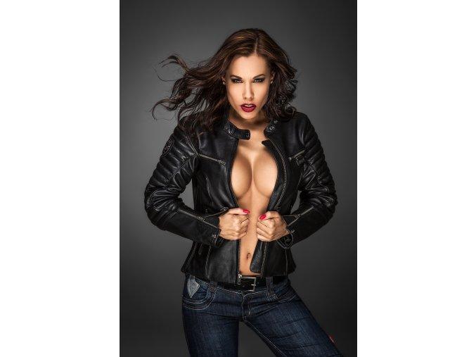 Kožená dámská bunda 4SR B-Monster Lady black