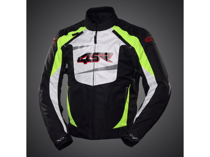 Textilní bunda 4SR Stunts Neon blackwhite