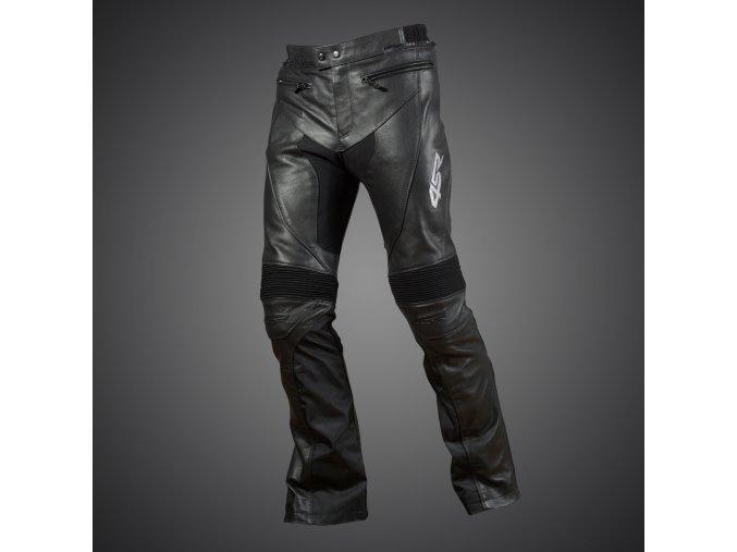 Kožené kalhoty 4SR Naked Shine black lesk