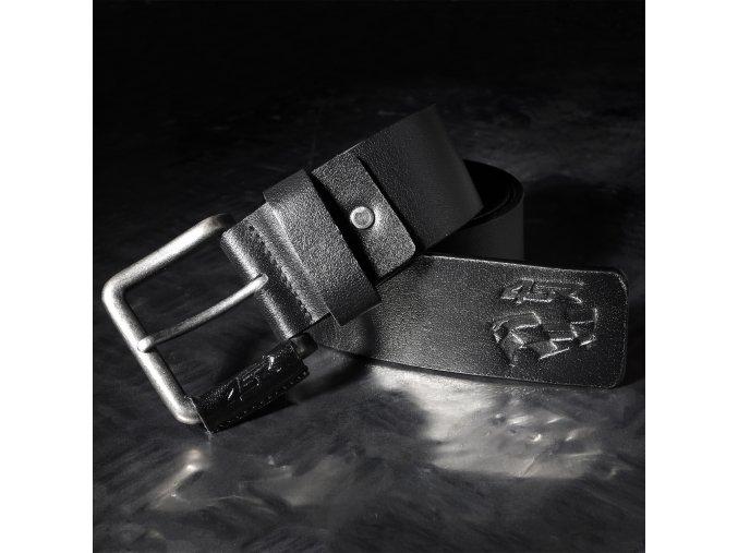 Kožený pásek 4SR Flag black