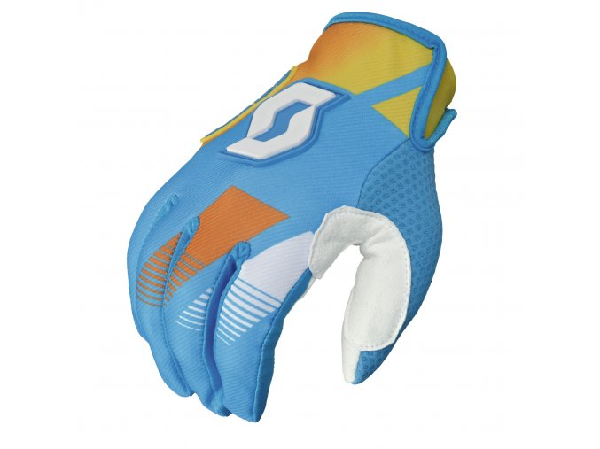 Rukavice SCOTT 350 RACE light blue/yellow 237580