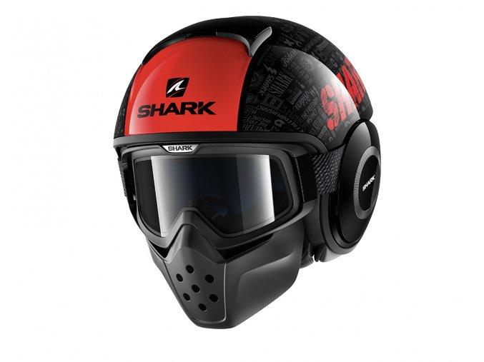 Přilba SHARK DRAK TRIBUTE RM black red KRA