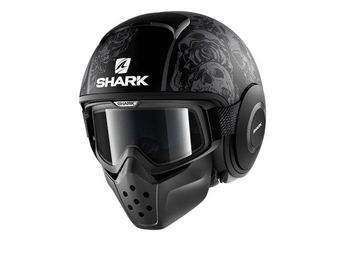 Přilba SHARK DRAK SANCTUS black anthracit KAA
