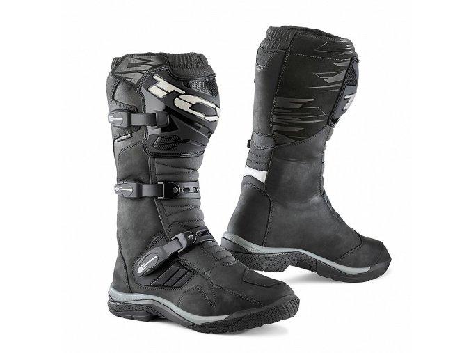 motocyklové boty baja black wp