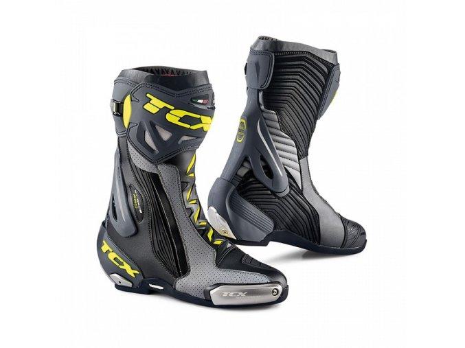 motocyklové boty tcx rt race pro air black grey