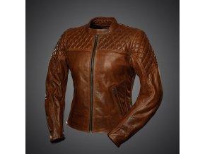 Kožená dámská bunda 4SR Scrambler cognac brown