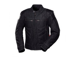 bunda na motorku 4SR Rowdie Denim Jacket Black 1