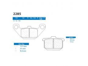 Brzdové destičky CL BRAKES S4 2285