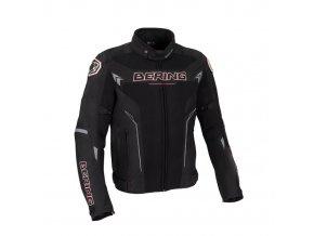 bering motorcycle mistral summer man sport textile jacket black red btb611