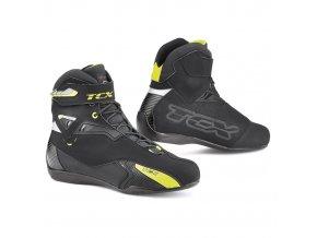 motocyklové boty rush black yellow wp