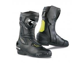 motocyklové boty sp master black yellow goretex