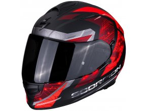 motocyklová přilba scorpion exo 510 clarus matt black red