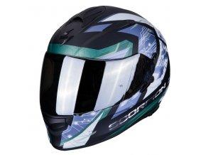 motocyklová přilba scorpion exo 510 clarus matt black silver