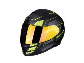 motocyklová přilba scorpion exo 510 galva matt black neon yellow