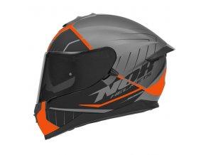 motocyklová přilba N302 S FASTLINE Orange