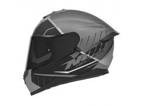 motocyklová přilba N302 S FASTLINE Mat Silver