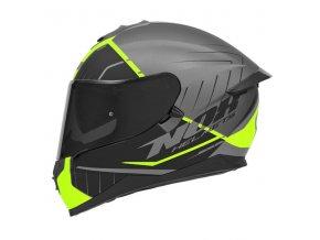 motocyklová přilba N302 S FASTLINE Yellow