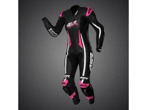 kombinéza 4sr leathers racing pink 1