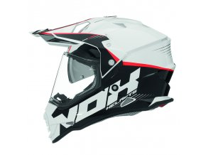 prilba cross n312 nox black white red 1