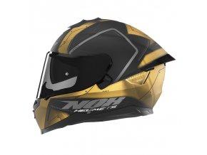 PRILBA NOX N302S GUARD BLACK GOLD MAT