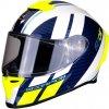 Scorpion EXO R1 AIR CORPUS White Blue Yellow